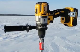 Шуруповёрт для зимней рыбалки